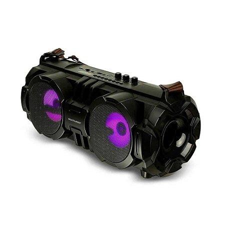 Caixa de Som Bazooka Bluetooth 100W RMS Entadas SD USB, AUX e Rádio FM + Microfone - Preta - Multilaser