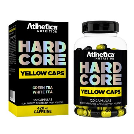 Hardcore Yellow Caps 120 Cápsulas - Atlhetica Nutrition