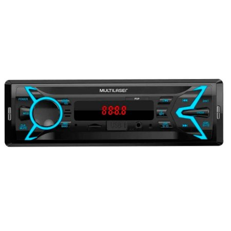 Som Automotivo Pop 1 Din MP3 4x25W RMS Rádio FM + Entrada C