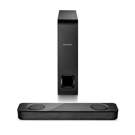 Caixa de Som Mini Soundbar Bluetooth 120W RMS Preto - Multilaser