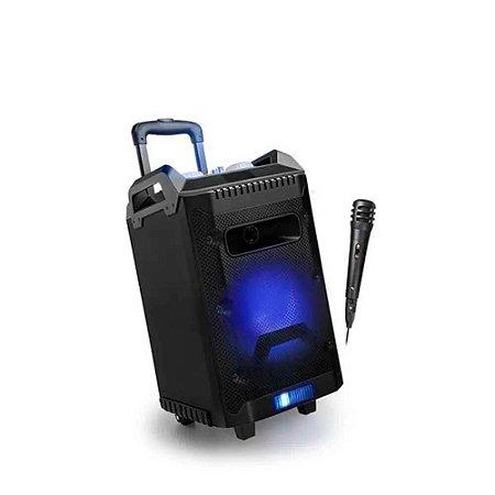 Caixa de Som Speaker Bluetooth 150W RMS + Microfone Preto Multilaser - SP299