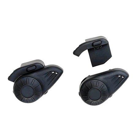 Par de Intercomunicador para Capacete com Bluetooth Alcance