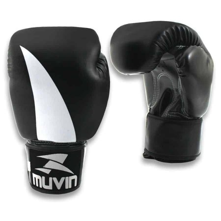 Luva de Boxe Bolt BX - 12oz - Preto/Cinza - Muvin LVB-200