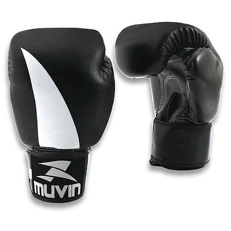 Luva de Boxe Bolt BX - 16oz - Preto/Cinza - Muvin LVB-200