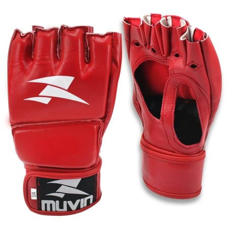 Luva de MMA Clinch MA - P/M - Vermelho - Muvin LVM-200