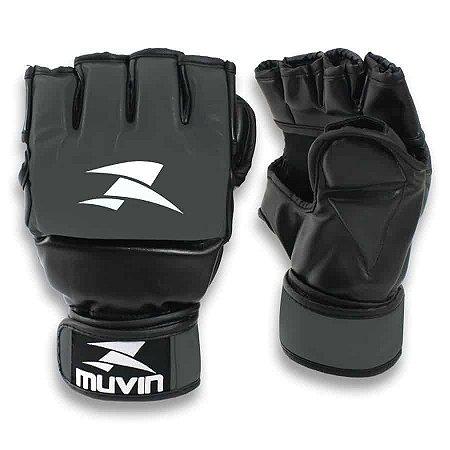 Luva de MMA Guard MA - P/M - Preto/Cinza - Muvin LVM-100