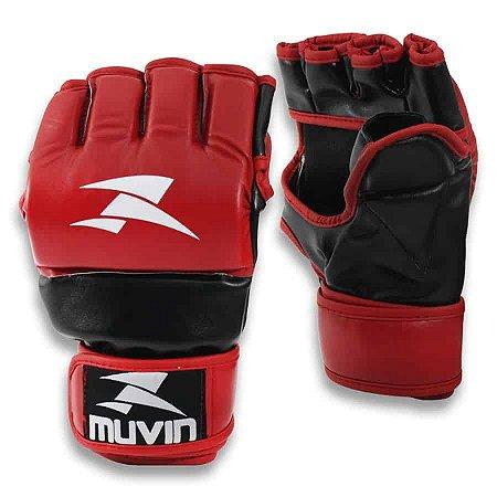 Luva de MMA Guard MA - P/M - Vermelho/Preto - Muvin LVM-100