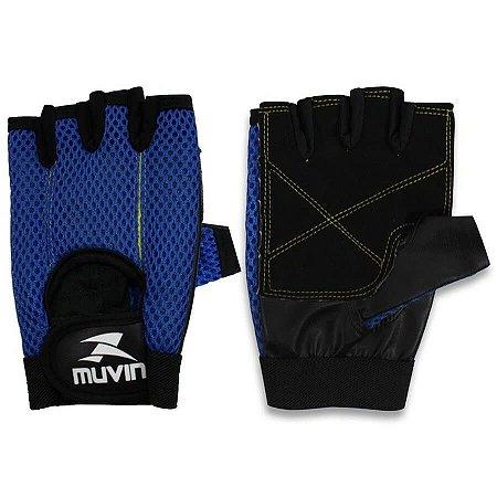 Luva de Musculação L100 – LVA-200 - M - Azul - Muvin