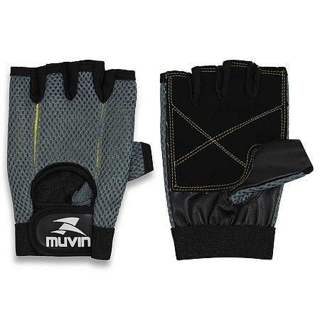 Luva de Musculação L100 – LVA-200 - M - Cinza - Muvin