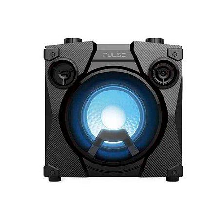 Caixa de Som Party Speak Cube TWS, BT, USB, FM, AUX, Microfo