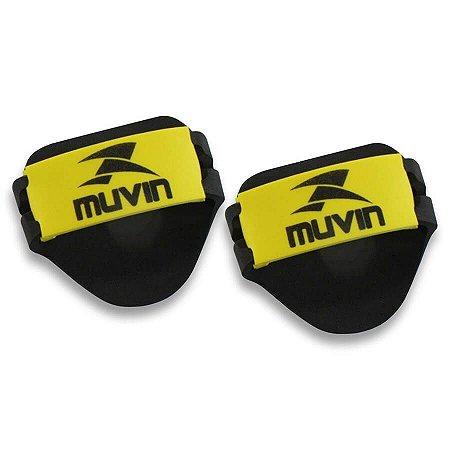 Luvas Musculação em EVA – LVA-100 - Preto/Amarelo - Muvi