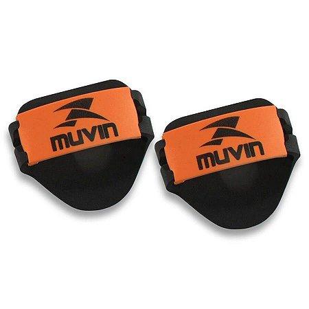 Luvas Musculação em EVA – LVA-100 - Preto/Laranja - Muvi