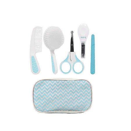 Kit Higiene Buba Cuidados para Bebê com Estojo Branco - Azul