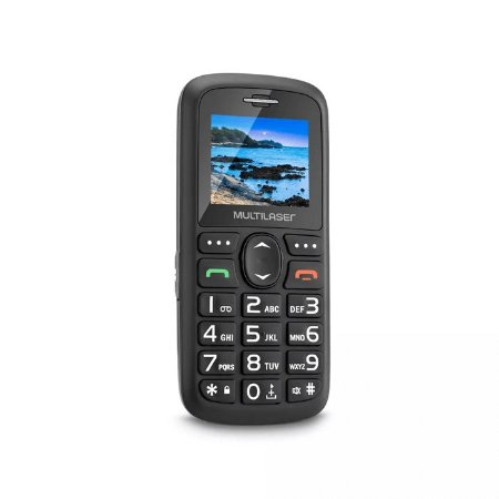 """Celular Vita Dual Chip Tela 1,8"""" USB e Bluetooth Preto - Multilaser"""