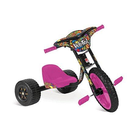 Triciclo Velotrol Rosa Bandeirantes - 235
