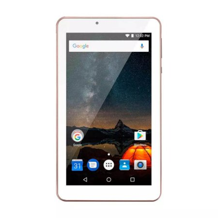 Tablet Multilaser M7S Plus Quad Core Câmera Wi-Fi 1 GB - Rosa