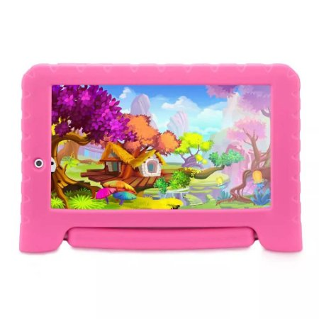 "Tablet Multilaser Kid Pad Plus Rosa 1GB Android 7"" Wifi"