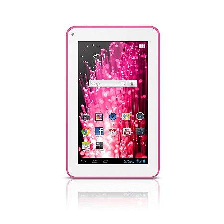 "Tablet M7s Quad Core Wi-fi - 7"" Rosa Multilaser - NB186"