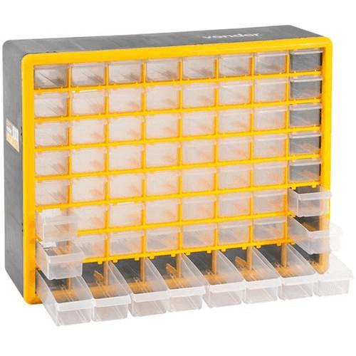 Caixa Organizador Plastico Gaveteiro 64 Gaveta Opv310 Vonder