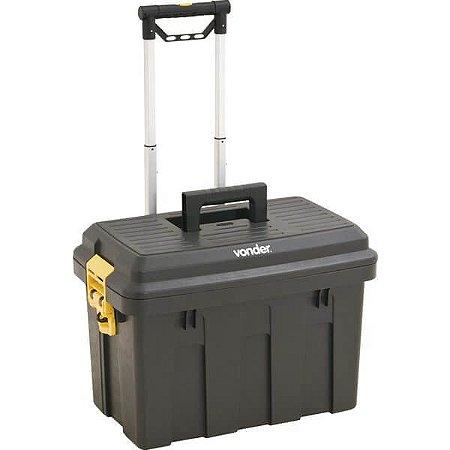 Caixa Plástica para Ferramentas com Roda e Alça Telescópi