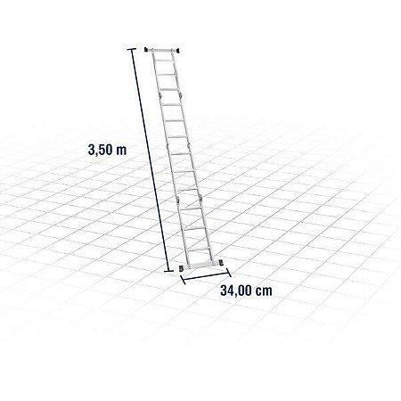 Escada articulada em alumínio, 3 x 4, VONDER 85.01.000.034