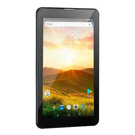 Tablet M7 - 4G Plus Quad Core 1 Gb De Ram Câmera Tela 7 - PRETO