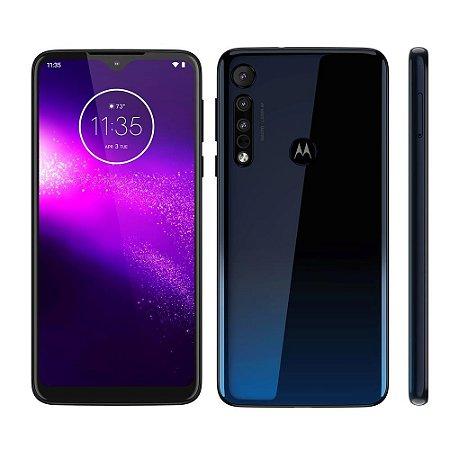 "Smartphone Motorola One Macro Azul Espacial 64GB, Tela Max Vision de 6.2"" HD+, Câmera Traseira Tripla, Android 9.0 e Processador Octa-Core"