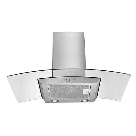 Coifa de Vidro 220V Inox com 234W 60cm 2 Lâmpadas de LED 3