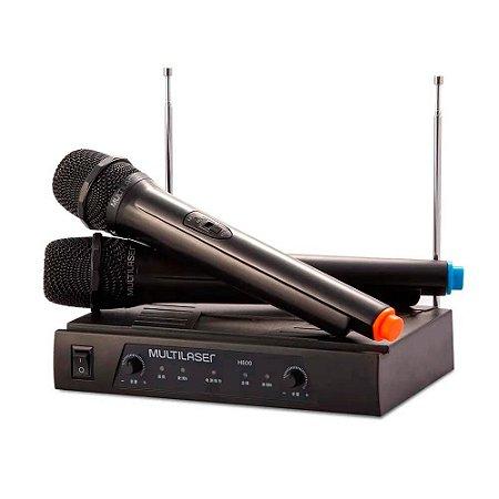 Microfone Sem Fio Receiver 2 Unidades - SP328
