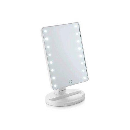 Espelho de Mesa com LED 180º com Brilho Ajustável Alimenta