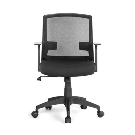 Cadeira Office Entrada Com Braços Fixos Preto