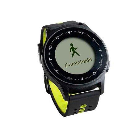 Monitor Cardíaco Sportwatch Chronus + GPS à Prova D Água