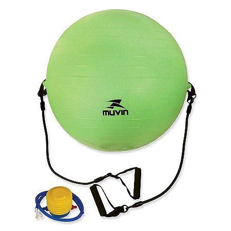 Bola de Pilates com Extensor 65cm – BLG-400 - Verde - Muvi
