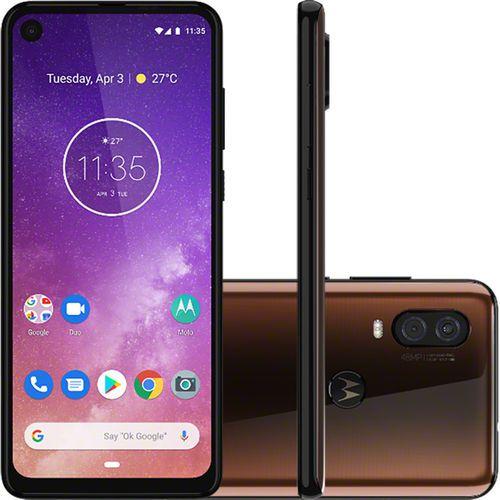 "Smartphone Motorola One Vision 128GB Dual Chip Android Pie 9.0 Tela 6,3"" 4G + Câmera 48+5MP - Bronze"