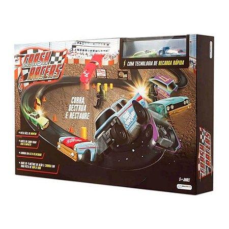 Pista Crash Racers + 2 carrinhos Indicado para +3 Anos Multi