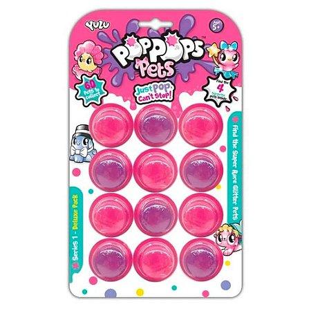 PopPops Slime Pets 12 Cápsulas + 4 Pets Colecionáveis