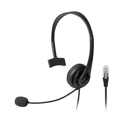 Headset com conector RJ09 p/ Telemarketing Multilaser - PH25