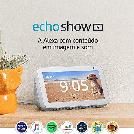 """Assistente Pessoal Echo Show 5 - Smart Speaker com tela de 5,5"""" e Alexa"""