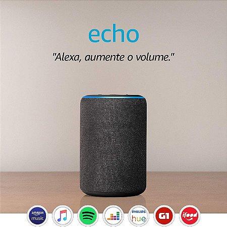 Assistente Pessoal Echo (3ª geração) - Smart Speaker com Alexa