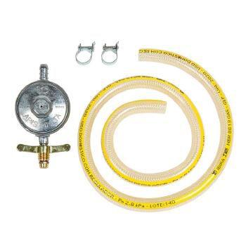 KIT INSTALACAO P/GAS  BOTIJAO MANGUEIRA PLASTICA   - W108667