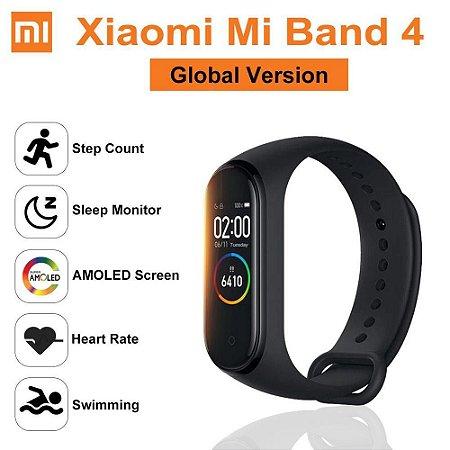 Xiaomi Mi Band 4 Pulseira De Relógio Inteligente - Tela Colorida Bluetooth 5.0 para Esporte e Fitness