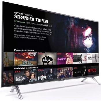 """Smart TV Android LED 32"""" Semp 32S5300 Bluetooth 2 HDMI 1 USB Controle Remoto com Comando de Voz e Google Assistant"""