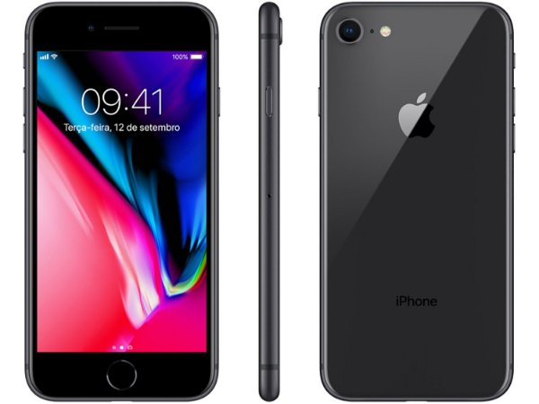 "iPhone 8 Plus 64GB - Tela 5.5"" iOS 12 4G Câmera 12MP - Apple"