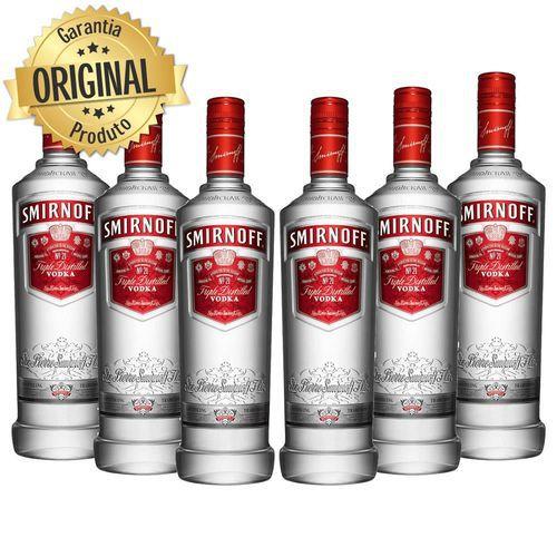 Kit 6 Vodka Smirnoff -  600ml