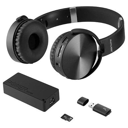 KIT MUSIC PLAY HEADPHONE BLUETOOTH SD/AUX/FM + POWER BANK 40