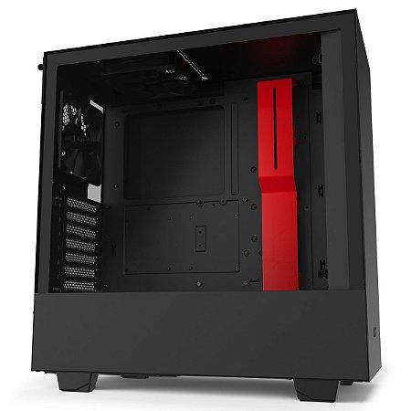 GABINETE H510 MATTE BLACK/RED - CA-H510B-BR
