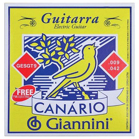 ENCORDOAMENTO PARA GUITARRA CANARIO TENSAO MEDIA  .009 - GES
