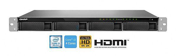 SERVIDOR DE DADOS NAS RACK 1U INTEL CORE I3-8100 QUADCORE 3.6ghz 4gb DDR4