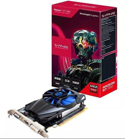 PLACA DE VIDEO SAPPHIRE AMD RADEON R7 350 2GB GDDR5 - 11251-