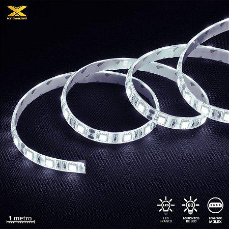 FITA DE LED VX GAMING BRANCO COM CONEXÃO MOLEX 60 PONTOS DE LED